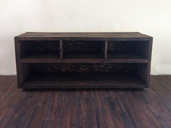 Reclaimed Wood Media Unit Tv Stand Entertainment By Kasecustom