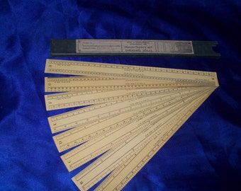 Vintage Box Set of 8 Engineering/Architect Drafting Scales