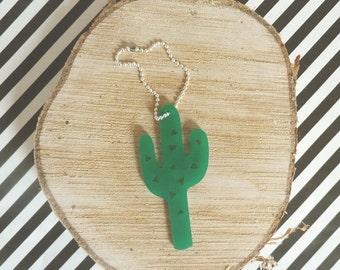 Cactus Keychain Lasercut from Acrylic