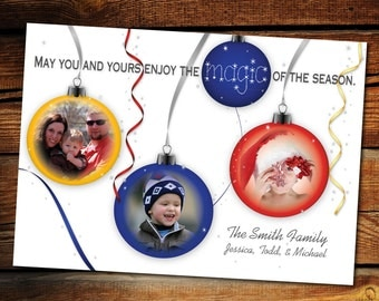 5x7 Ornament Photo Holiday Card
