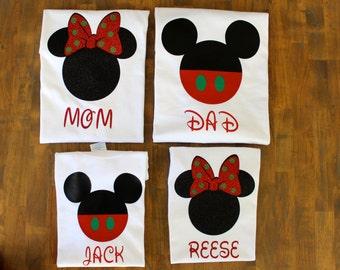 Matching Family Disney Christmas Shirts, Women's Disney Shirts, Minnie Christmas shirt, Mickey Christmas Shirts, Family Disney Shirts,