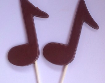 30 Chocolate Music note pops
