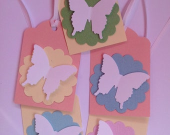 6 Butterfly gift tags