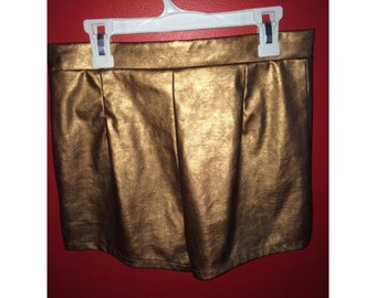 vintage gold party shorts