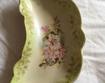 Antique floral dish
