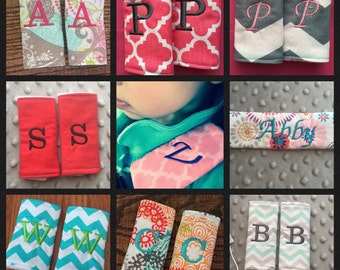 Custom Monogrammed Car Seat Strap Covers