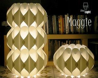 Modern lighting - Modular light - Floor lighting - Contemporary light - 60's retro lamp - Classic white lamp - Floor lamp - Floor light
