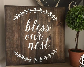 Bless Our Nest Pallet Wood Sign