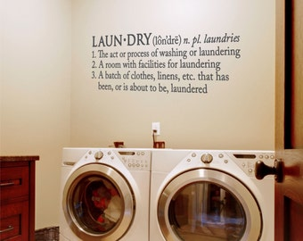 Laundry Room Wall Decal - Laundry Decal - Wall Decal - Wall Quotes - Laundry Room Wall Decor - Vinyl Lettering - Home Wall Decal - Laundry