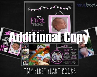 My First Year baby book - ADDITIONAL COPY
