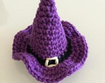 Halloween witch hat crochet pattern pdf Halloween amigurumi halloween decorations Halloween crochet pattern Halloween applique