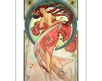 fabric panel - painting by Alphonse Mucha (15) - v.A