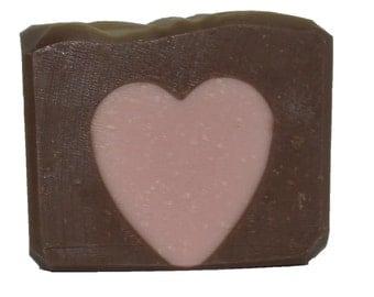 Chocolate Heart - Naturally Handcrafted Cold Process Soap