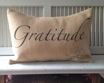 GRATITUDE YOGA INSPIRED Pillow,Insert Included