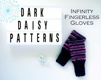 Infinity Fingerless Gloves PDF Knitting Pattern/Quick & Easy Knit/Make gloves for the whole family from one pattern/suitable for beginners