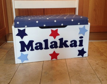 Personalised Toy Box - various colours and Fabrics. Made to order