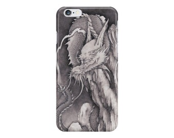black and white dragon iPhone case