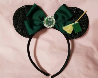 Harry Potter Slytherin Inspired Mickey Ears