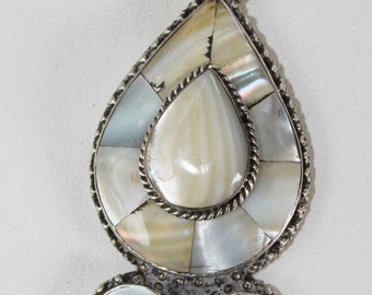 Mother of Pearl Inlay on Sterling Silver