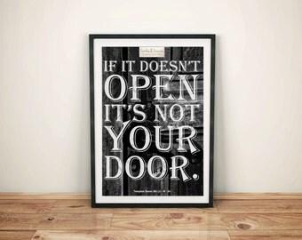 Motivational (J) - If It Doesnt Open Its Not Your Door