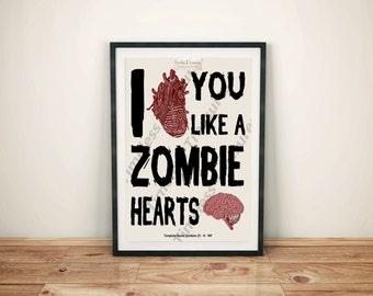 Zombies (F) - I Heart You Like A Zombie Hearts Brains