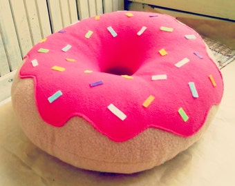 Donut Pillow - Designer Pillow - Decorative Pillow - Home Decor