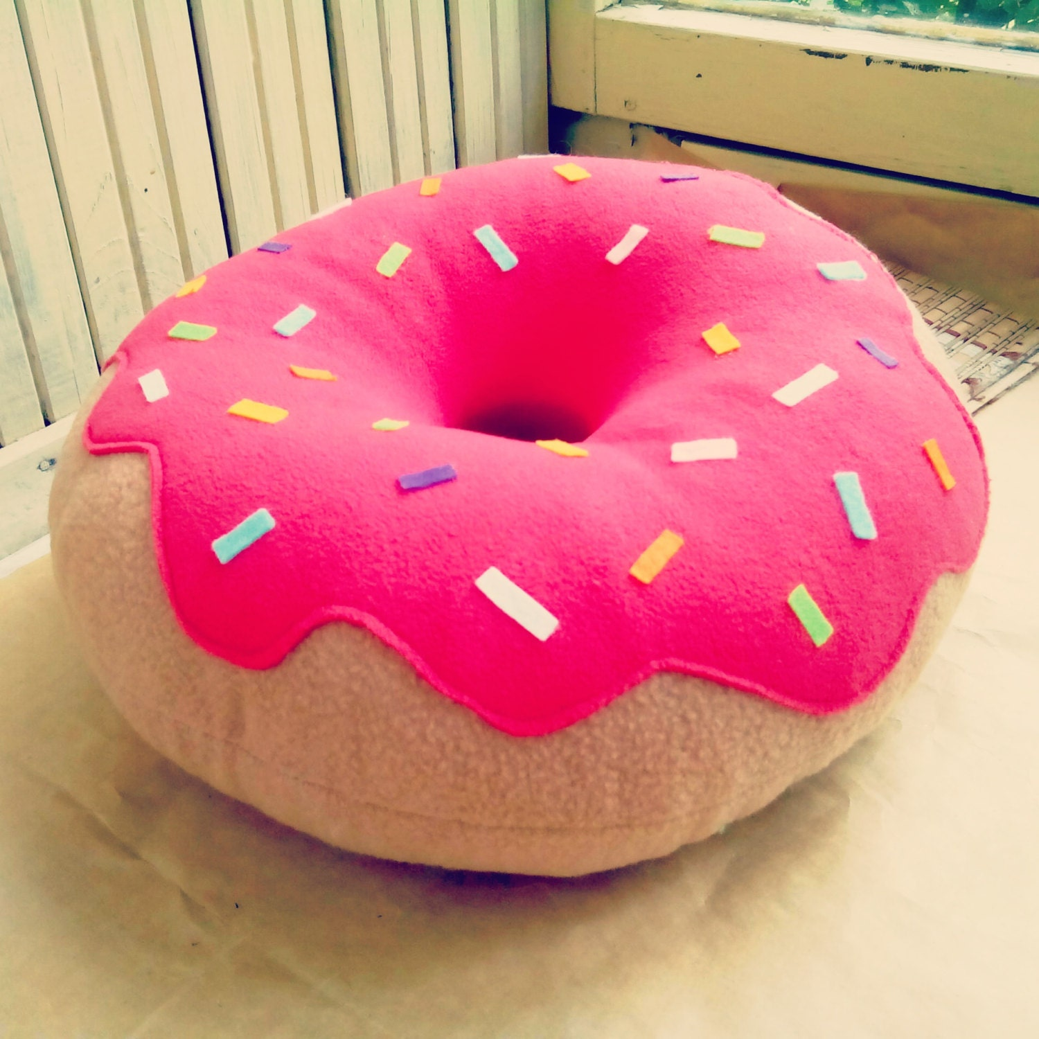 donut pillow designer pillow decorative pillow home. Black Bedroom Furniture Sets. Home Design Ideas
