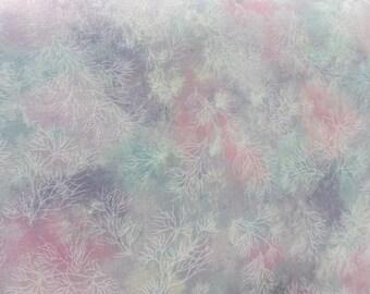 Robert Kaufman, ETJ 12141 198 Pastel, blues, pink, purple and greens with white tree type pattern