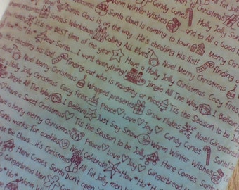 Maywood MAS8625-ER Off white background with red Christmas words