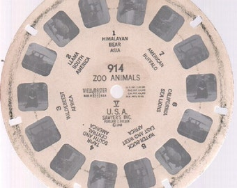 Vintage Viewmaster Sawyer's 1948 : #914 Zoo Animals V USA