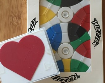 Heart Shaped Tanagram and Plastic Puzzler (puzzle0002)