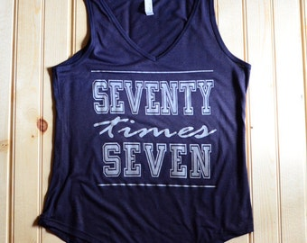 Seventy Times Seven Tank (Navy)
