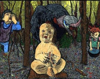 Art Print of Benjie Loveless original , illustration, Pop Surrealism, low brow,