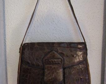 genuine vintage crocodile handbag