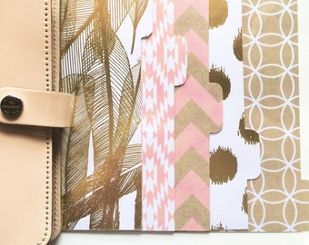 Planner Dividers: Bold Gold Feathers!