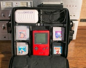 Red Gameboy with Case, Extra Battery Pack, 4 Games - Paperboy, Tetris, etc.