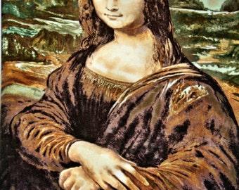 Mona Lisa Fleece Fabric Panel Leonardo Da Vinci 48 in X 60 In