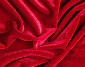 Stretch Velvet Fabric Sold By the Yard