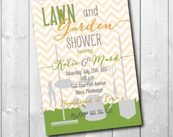 LAWN & GARDEN Shower Invitation printable/Digital File/Honey Do Shower, handyman, tool, gadget, groom couples, bbq/Wording can be changed
