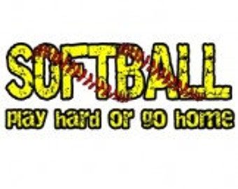 Softball Play Hard or Go Home Personalized Shirt