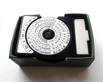 Vintage Soviet photography light meter, manual exposure meter  OPTEK made in 1960's in USSR