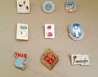 Vintage soviet childrens pin badges / Soviet Holidays /Made in USSR, 1970s