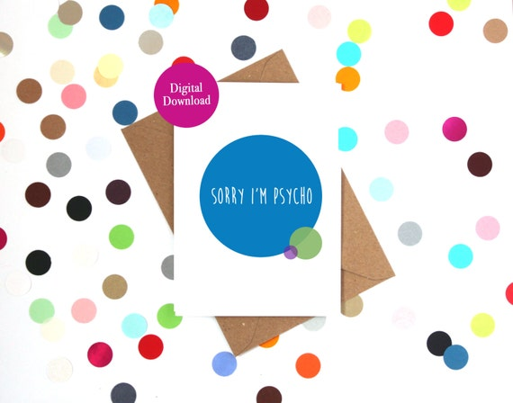 Printable card Sorry card Apology Card Digital card – Free Printable Sorry Cards