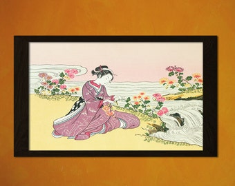 Japanese Art - Suzuki Harunobu Artwork - Ukiyo-e Art Home Decor Oriental Decor Asian Art Edo Period Japanese Artists  t