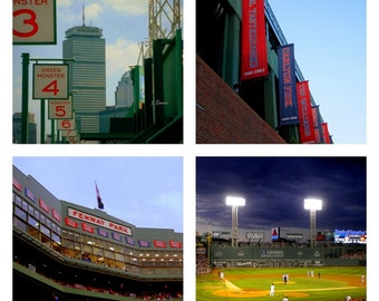 Fenway Park Custom Tile Photo Coasters
