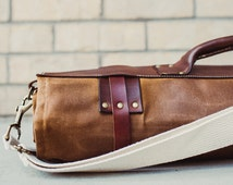 SALE - Waxed Canvas and Leather Chef Knife Roll Knife Bag- The Proper Knife Roll