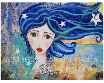 Ocean Girl ~ Art Print