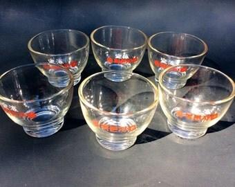 Vintage Mini Asian Dipping Bowls/Asian Dipping Set of 6/