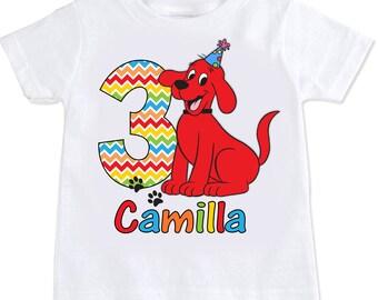 Clifford the big red dog birthday Tshirt Shirt