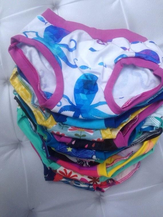 Girl's Panty Packs- Grab Bag Style- 3 pack girls elastic free knit panties